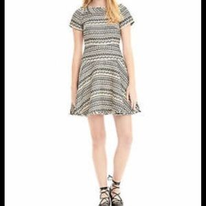 Banana Republic print Jacquard fit and flare dress